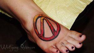 Borderlands Vault Symbol Pinsneedles Tattoos Body
