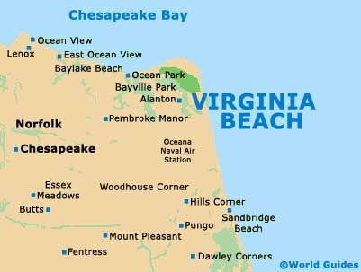 Virginia Beach Virginia Beach Tourist Information And Tourism - Us maps virginia animap