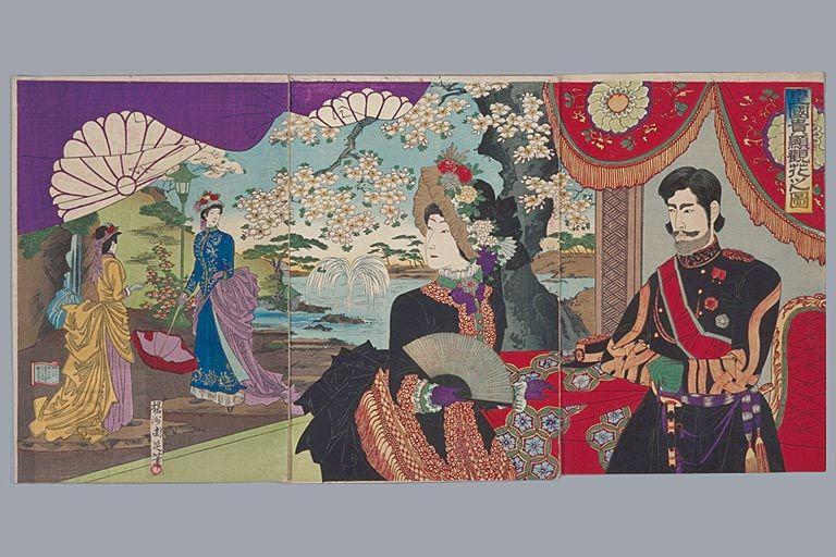 hashimoto chikanobu apr 1887 アートのアイデア アートデザイン 日本史