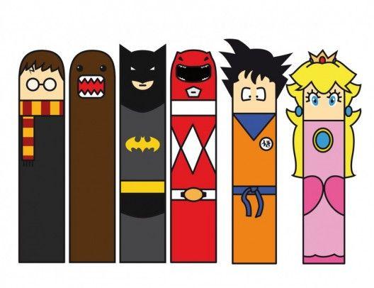 Top Les marque-pages de super-héros à télécharger | anniversaire super  AN71
