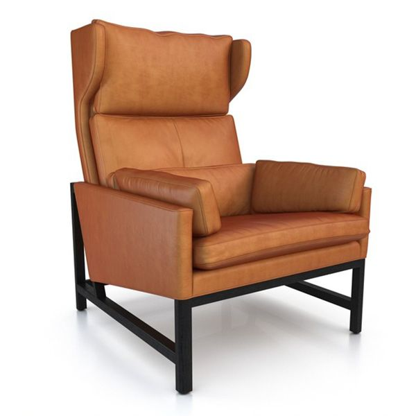 Black Leather Chair Recliner Wing Office Tufted Nailed Arm Accent Wingback Back Traditional Furniture Recliner Living Room Chairs
