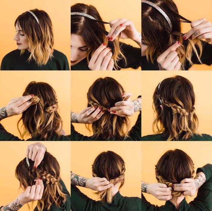 Comment faire une coiffure facile cheveux mi-longs? en 2020 (avec images) | Faire un chignon ...