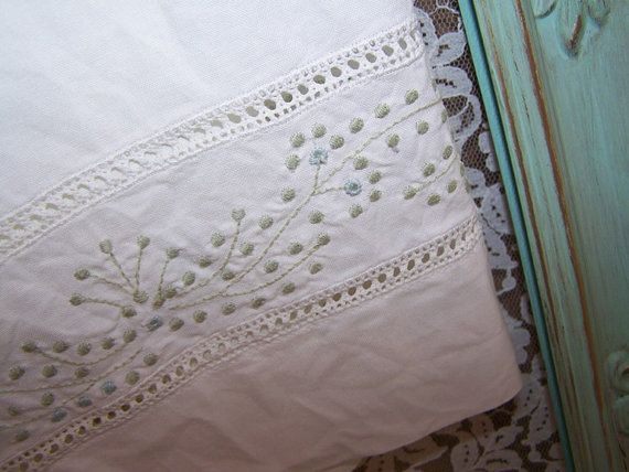 Vintage Farmhouse Kitchen Curtains Embroidered By PineyRoseDesigns