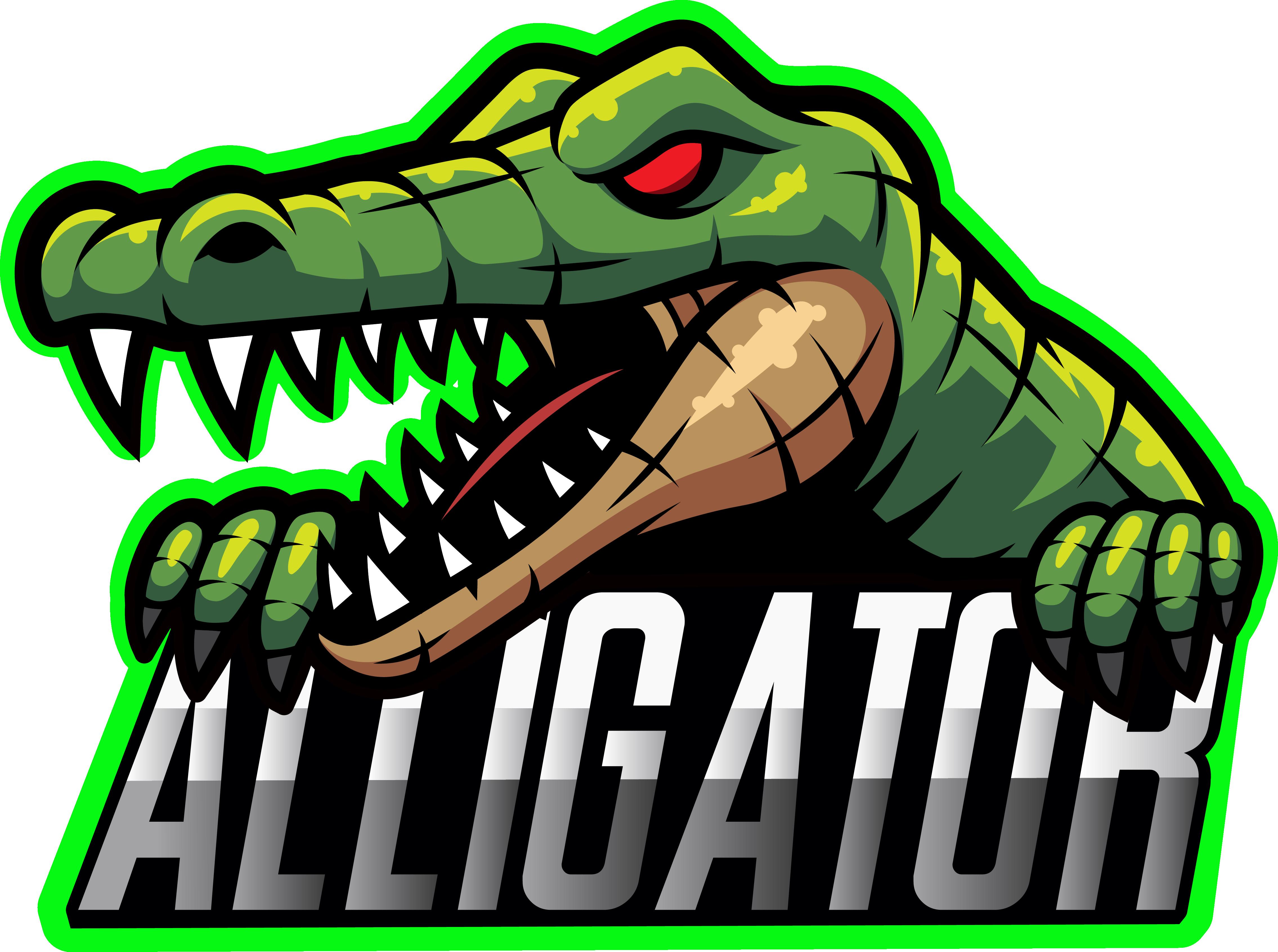 Alligator Sport Mascot Logo Design By Visink Thehungryjpeg Com Mascot Sponsored Sport Alligator Logo Ad Logo Concept Logo Design Illustration Design