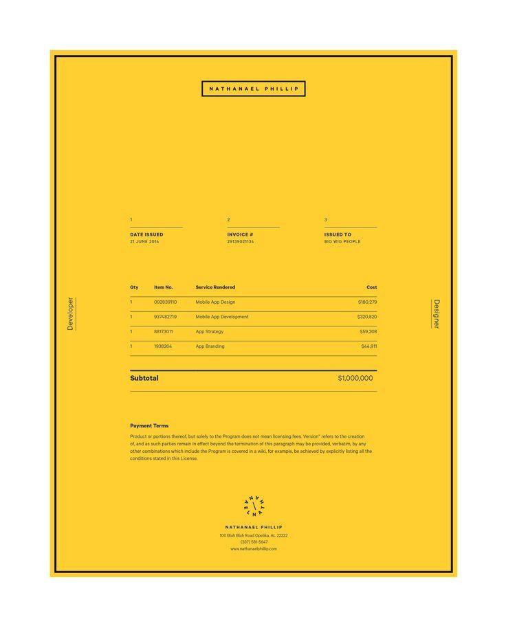 Invoice Design 50 Examples To Inspire You Corporate identity - simple invoice form