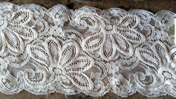 Vintage Cream Lace Antique Trims 4 Wide Stretch