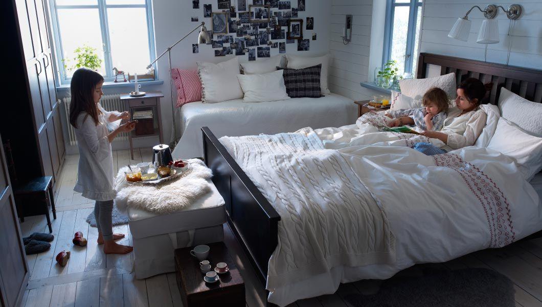IKEA; ein gemütliches Schlafzimmer bestehend aus HEMNES - schlafzimmer ideen grau braun