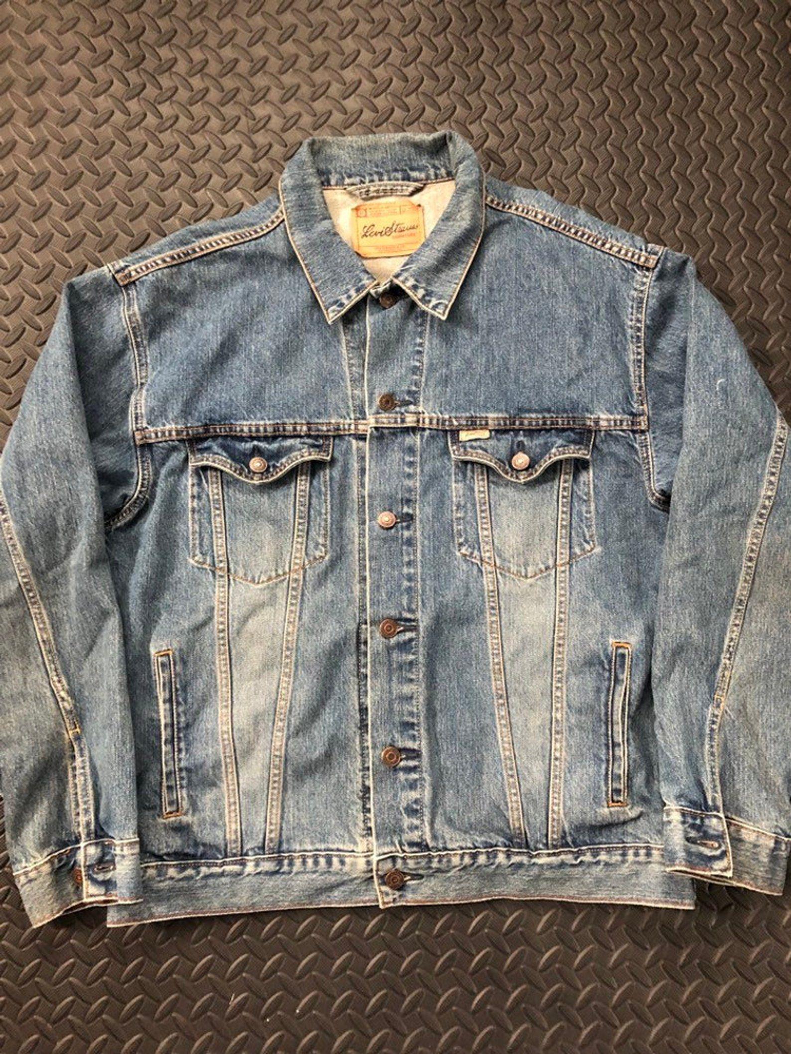 Vintage 90s Levis Strauss Denim Jacket Etsy Denim Jacket Jackets Levi Strauss
