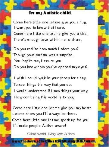 I Gave My Child Autism >> For My Children Embracing Autism Autistic Children