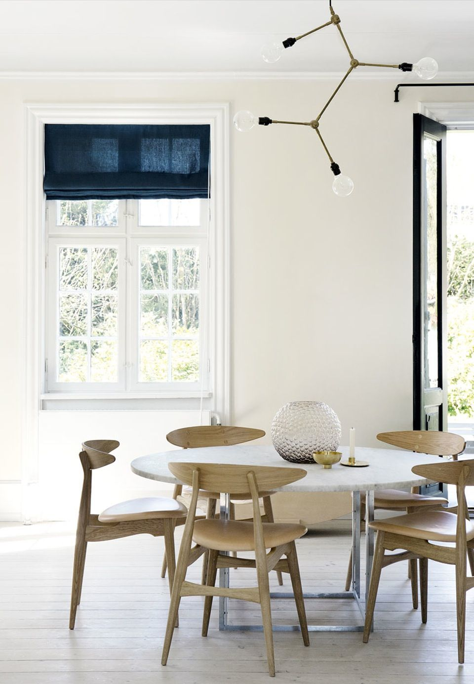 Amazing Dining Room With A Lot Of Danish Design Classics PK54 Marble Table From Fritz