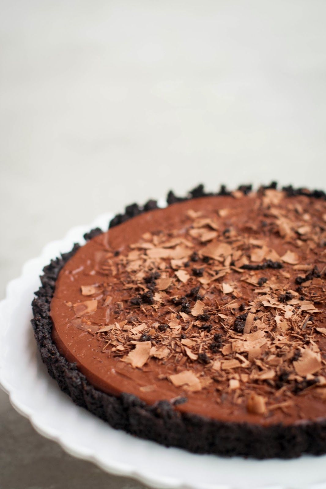 #food #recipes #chocolate tart #sweets #desserts - Chocolate Stout Tart with an Oreo Cookie Crust