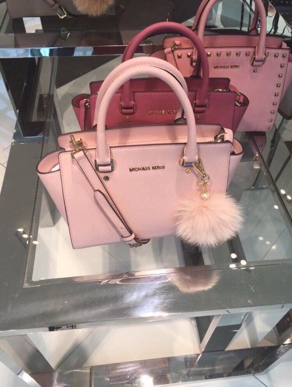 Pink Michael Kors Bags Michaelkors Watchmichaelkors Watches