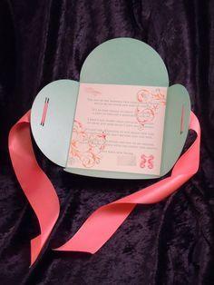 petal fold invitation rustic romantic vintage invitations