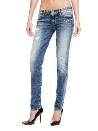 fa7719bc8c JEANS SKINNY STRASS   strass jeans   Jeans, Skinny Jeans, Guess jeans