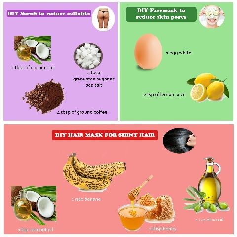 Diyspa 1 Exfoliante Para Reducir La Celulitis Agregar 2cdas De Aceite De Coco 2cdas De Azucar O Sal Marina Y 4 Cuchar Vegan Beauty Diy Hair Mask Skin Health