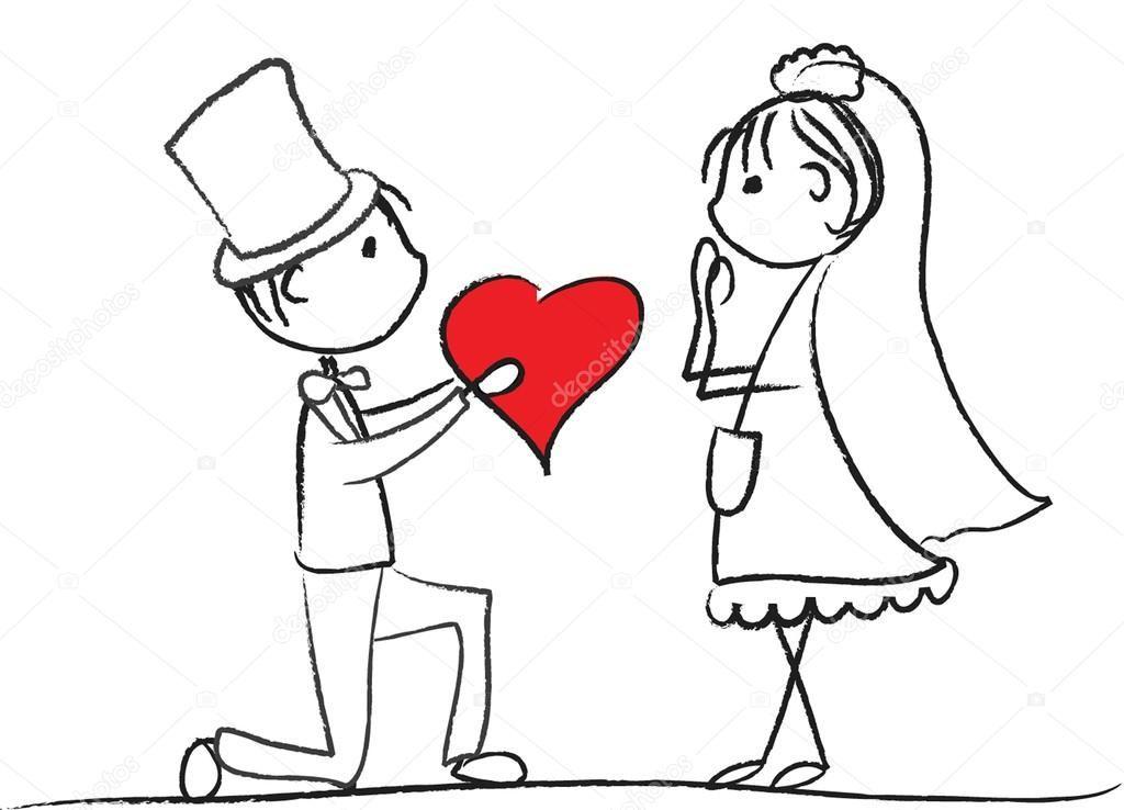 Прикольные картинки свадебные человечки