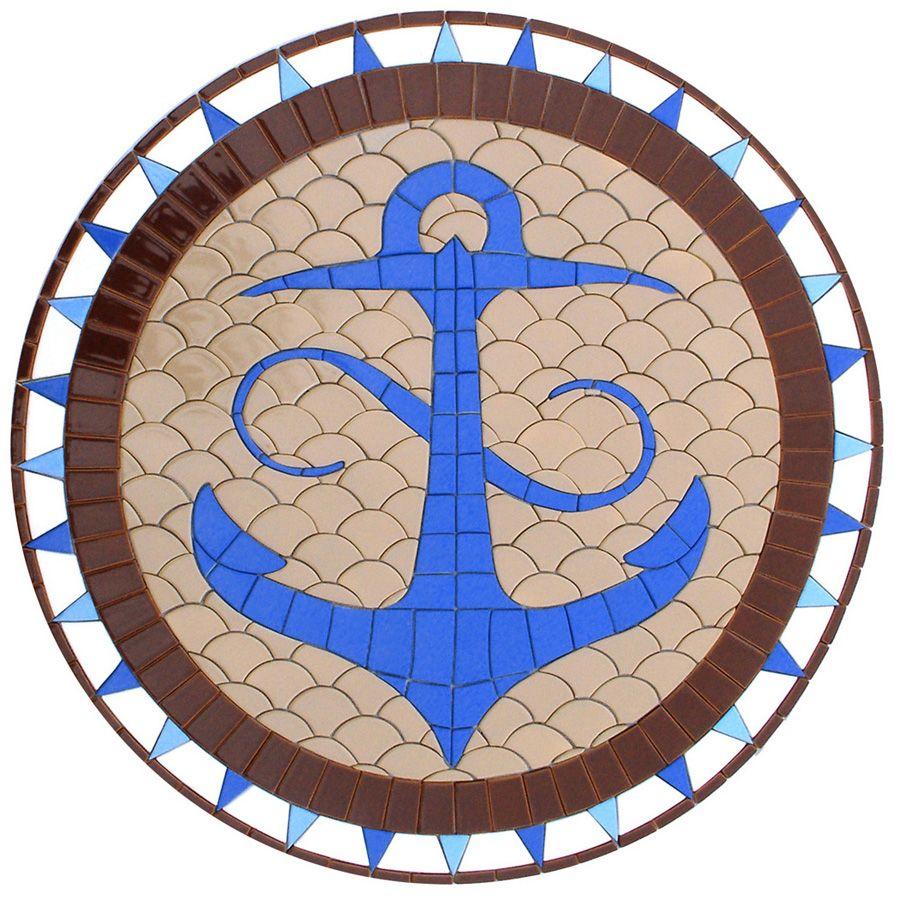 Nautical Anchor, Custom Ceramic Mosaic