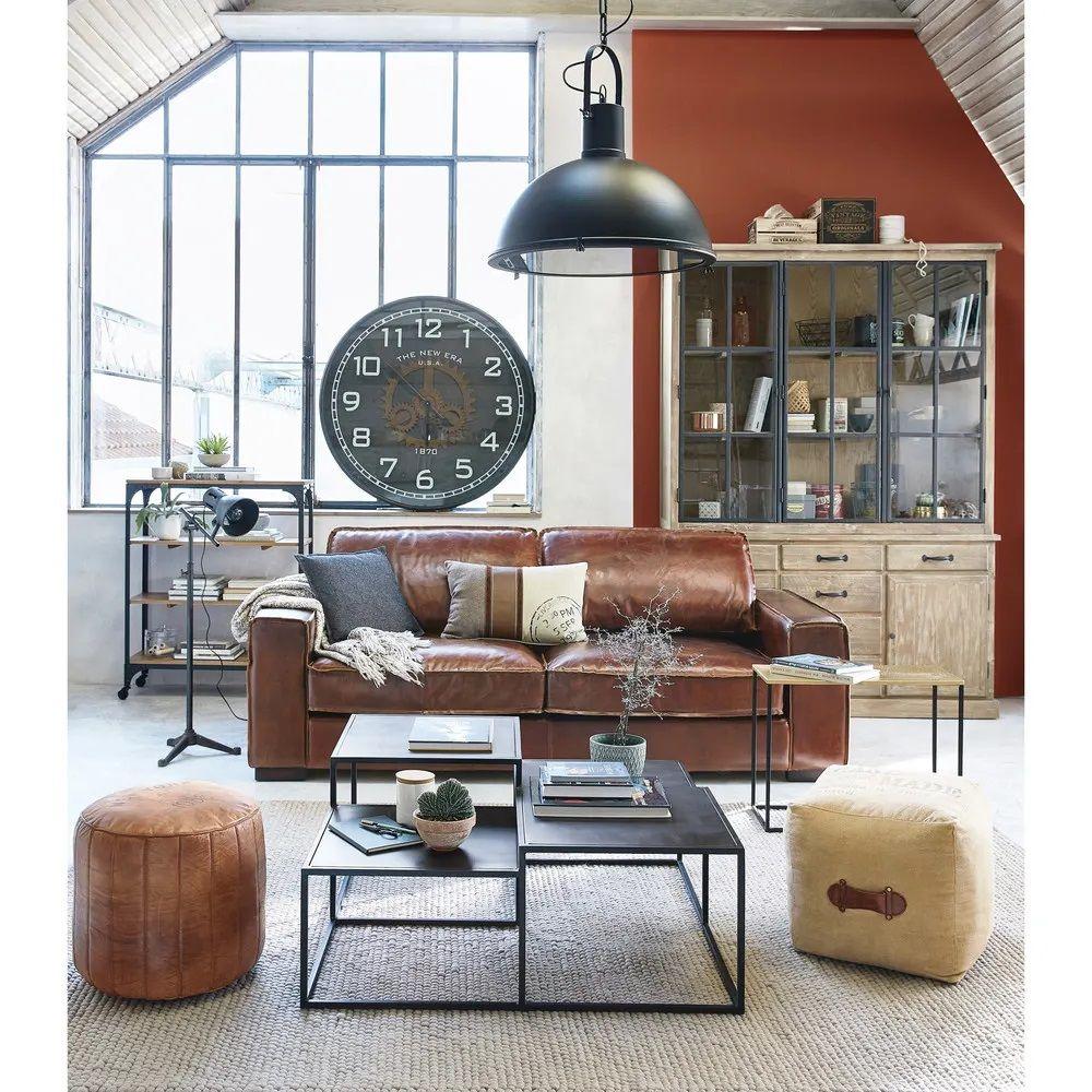 Horloge A Rouages Duncan En Metal Noir Horloge Maisons Du Monde Iziva Com Canape Style Industriel Table Basse Maison Du Monde Table Basse