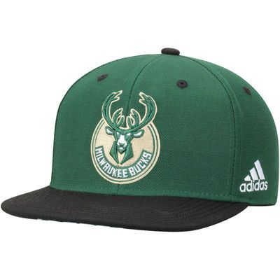 da4b0be1243 Milwaukee Bucks adidas Youth On Court Snapback Hat - Green Black ...