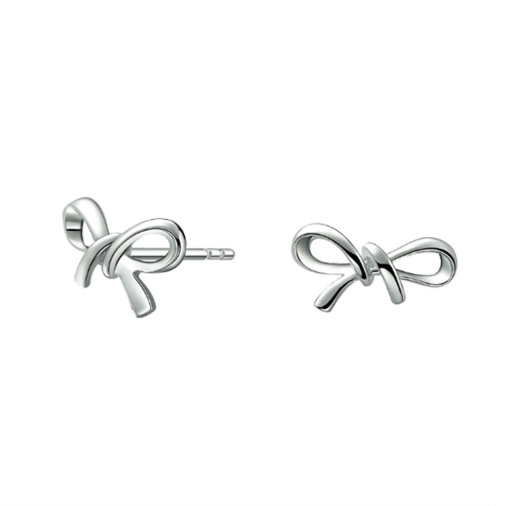 14k White Gold Over 925 Sterling Silver Infinity Stud Earrings For Women S