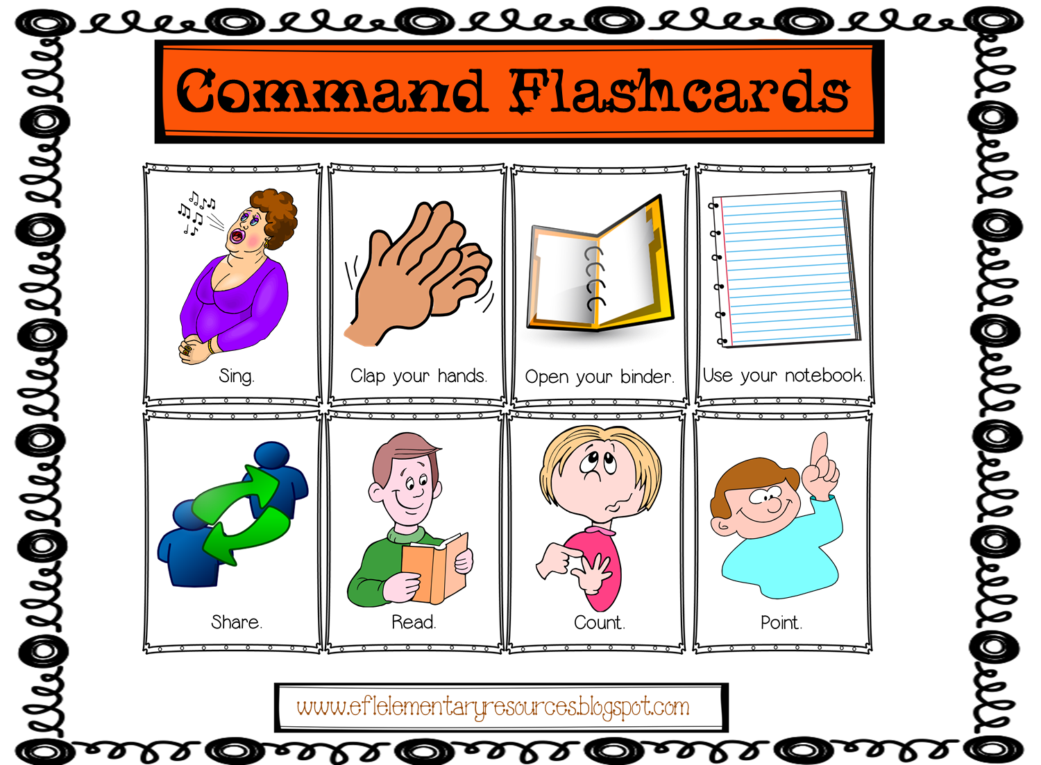 English Commands In The Classroom