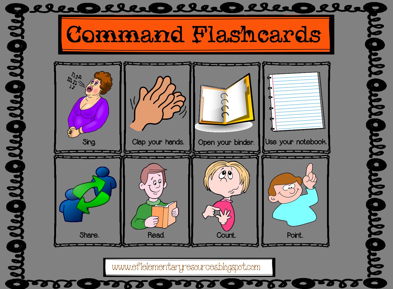 Esl Classroom Commands Flashcards