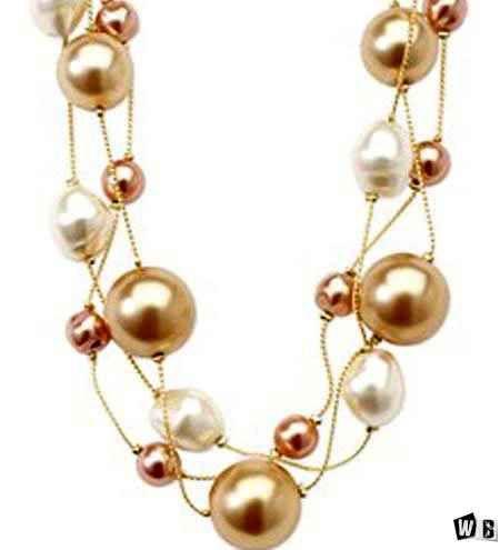 صور اكسسوارات مدهشة اجمل الاكسسوارات البناتى Necklace Gold Necklace Pearl Necklace