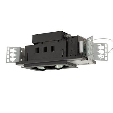 Jesco Lighting MG1650-2ESB Two-Light Double Gimbal Linear Recessed Low Voltage Fixture