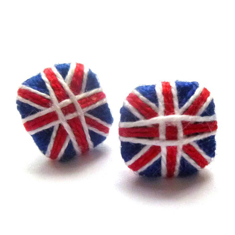 Cotton Union Jack Earrings
