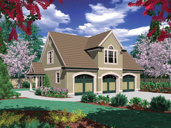 Garland 2792 2 Bedrooms And 1 5 Baths The House Designers Carriage House Plans Unique House Plans Guest House Plans