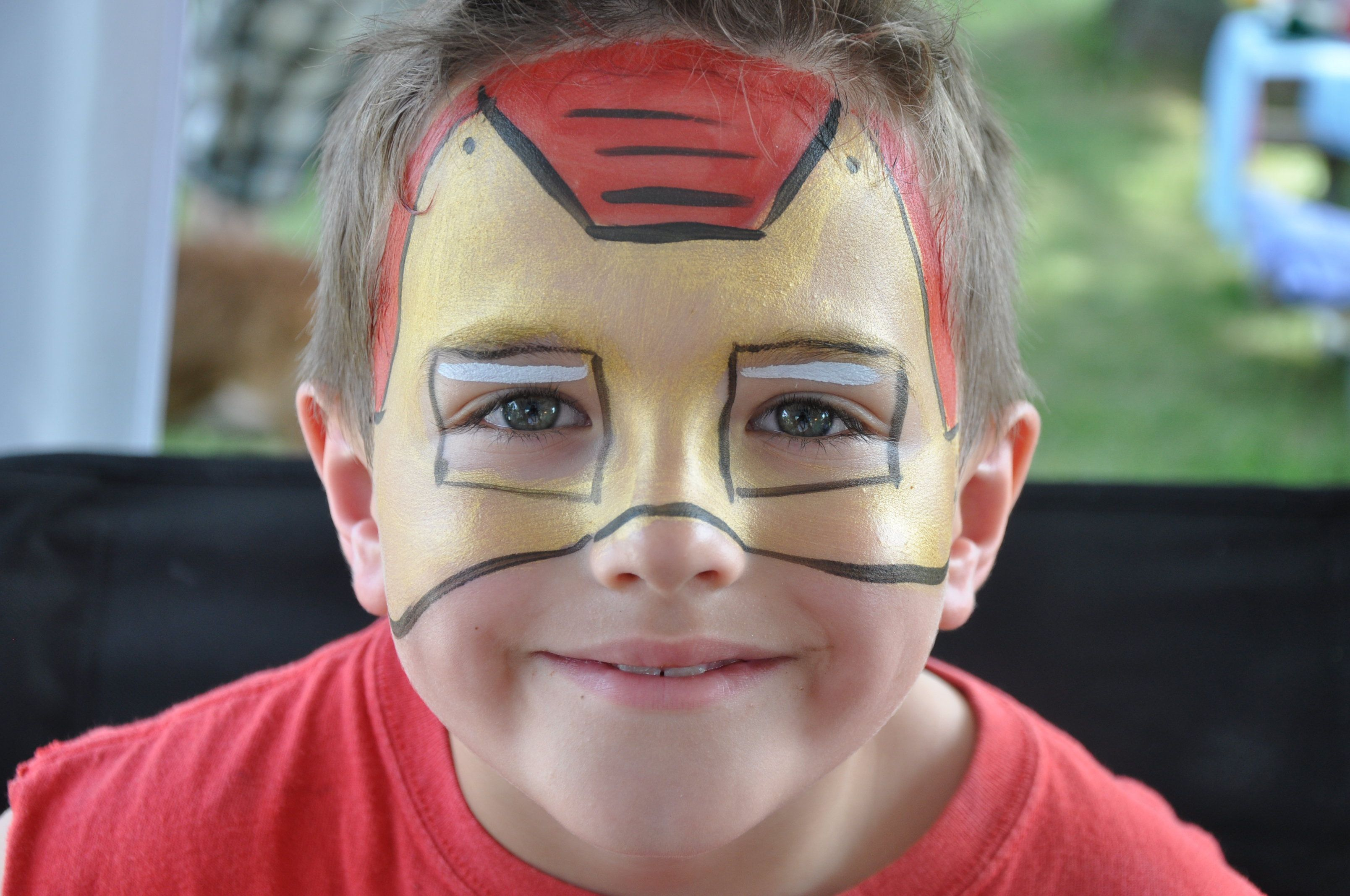 Iron Man Face Paint Superheroes Birthday Maquillaje Infantil