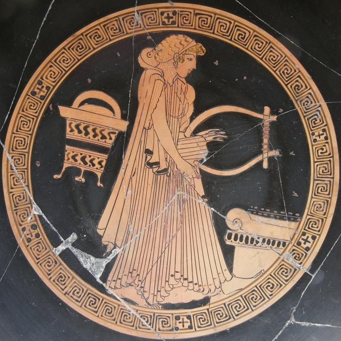Ancient Greek Musical Instruments   Beautiful, Pottery and ...