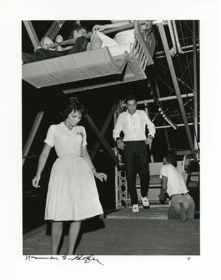 """Elvis Presley with girlfriend Anita Wood, Memphis Fairgrounds - Monday, July 11, 1960 
