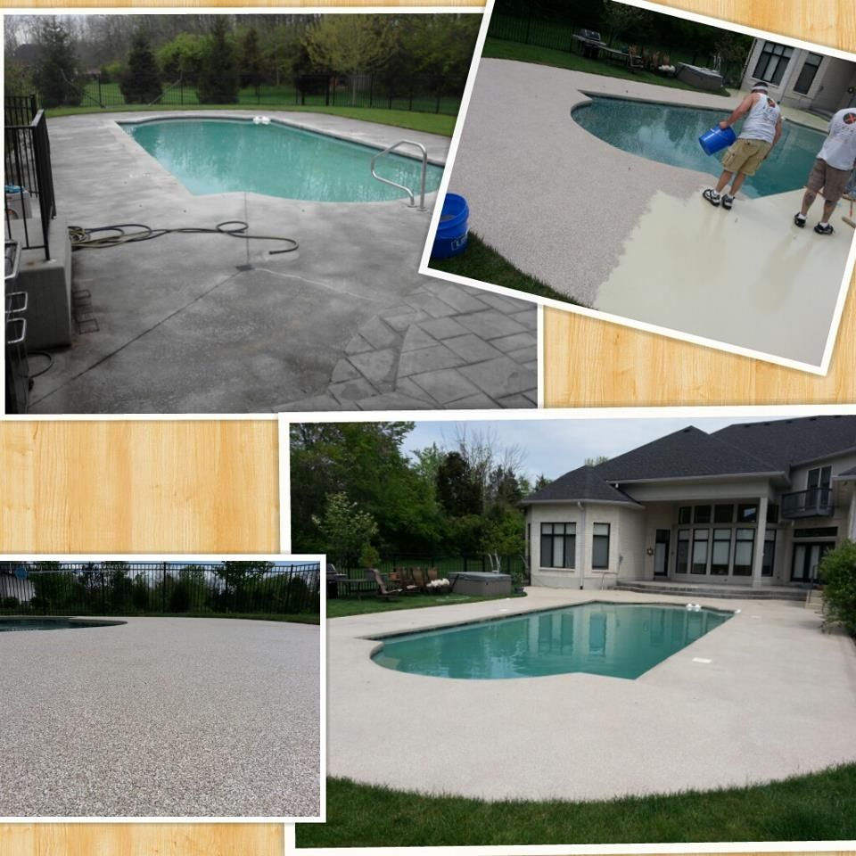 GraniFlex Around A Pool The Best Coating For Around A Pool Ever Made !