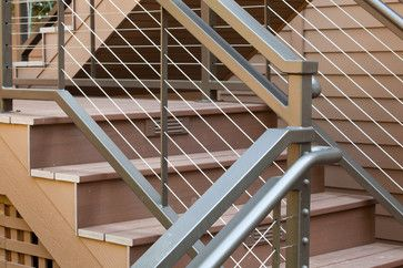 AZEK Deck & Steel Handrails in Salem, contemporary (With ...