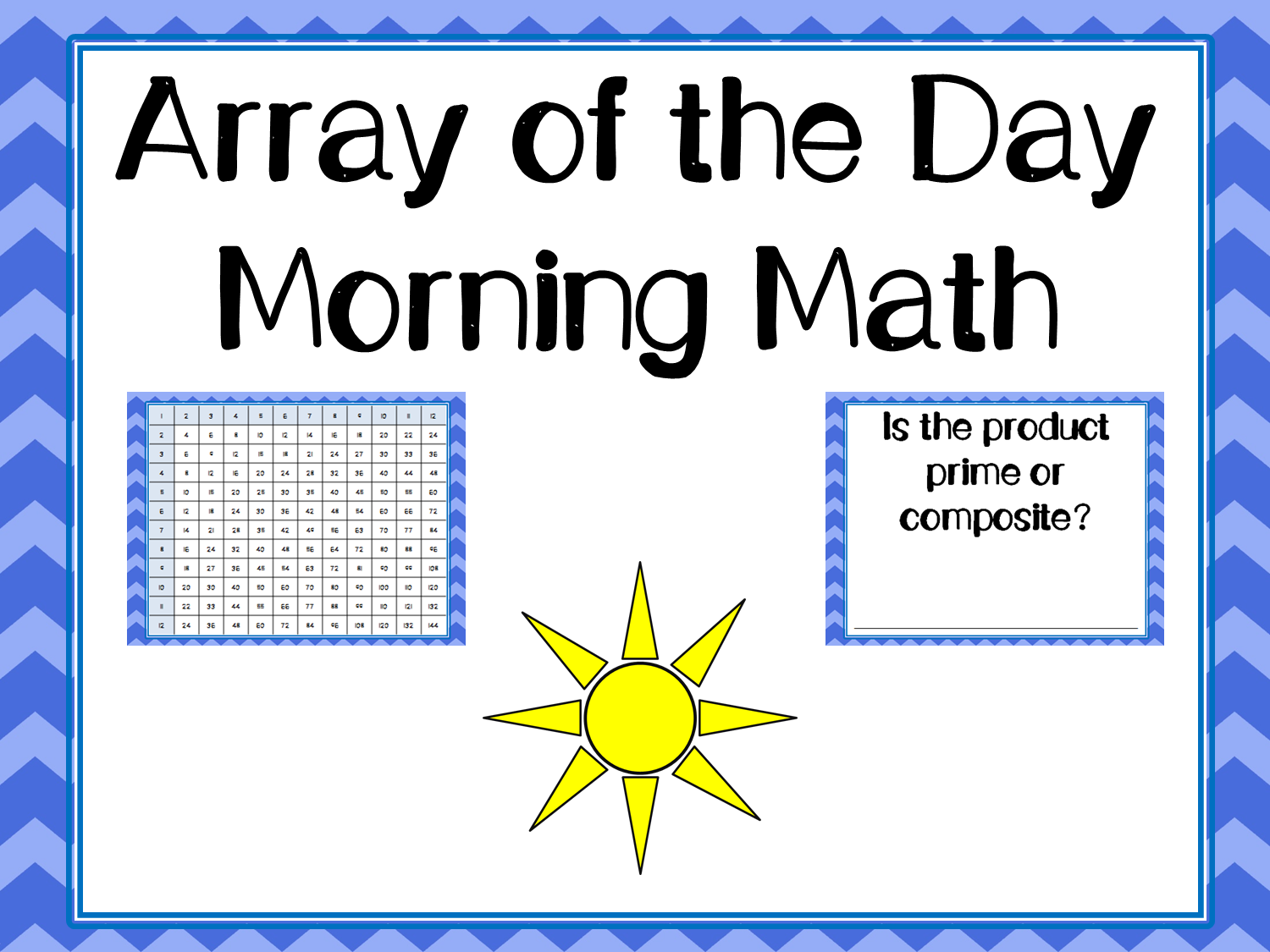 Array Of The Day Morning Work Multiplication Practice