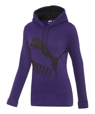 Another great find on #zulily! Parachute Purple & Black Fleece Hoodie by PUMA #zulilyfinds