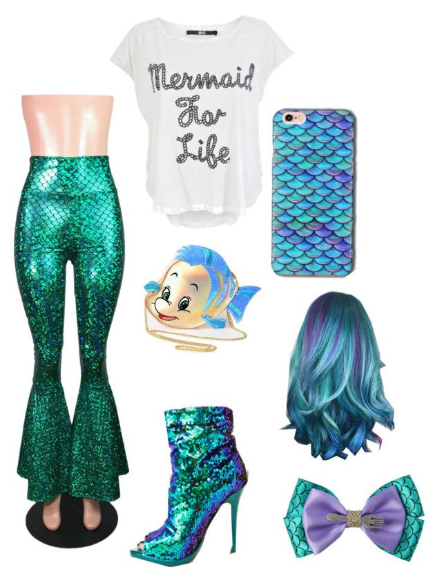 """""""Ariel's Human Life Outfit"""" by zoe-carroll ❤ liked on Polyvore featuring Iron Fist, Liliana, Disney and Danielle Nicole"""