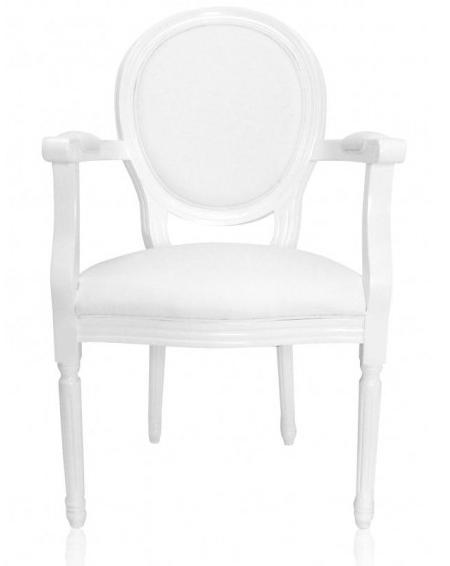 Louis White Armchair.