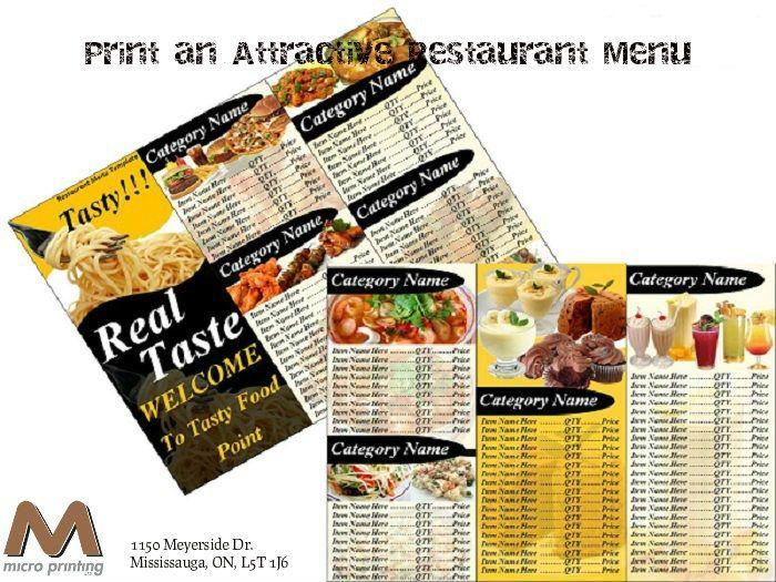 6 design tips to print an attractive restaurant menu