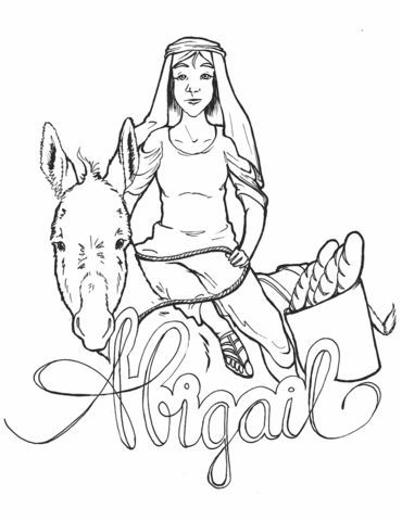 Free Abigail Coloring Page