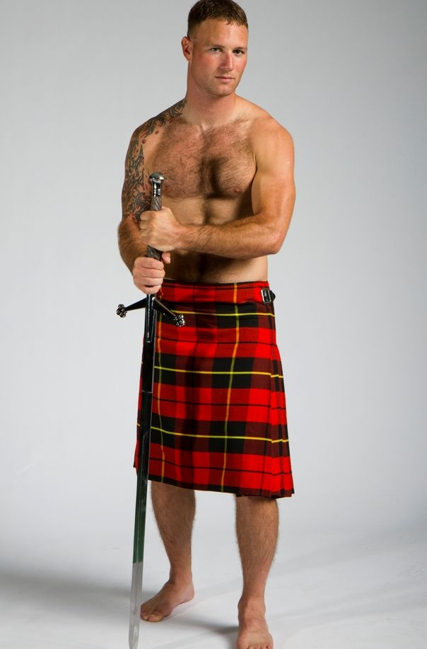 Kilt and sword - bet there's another 'sword' under that ...  Kilt and sword ...