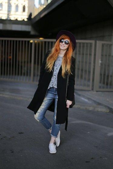 Kejt *** - Zara Cat Tshirt, Mango Boyfrend Jeans, Converse Sneakers - Cat