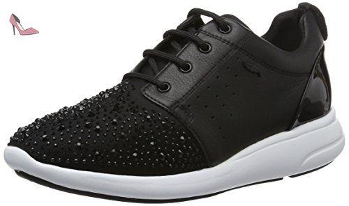 Geox D Ophira A, Sneakers Basses Femme, Noir (Blackc9999), 38 EU