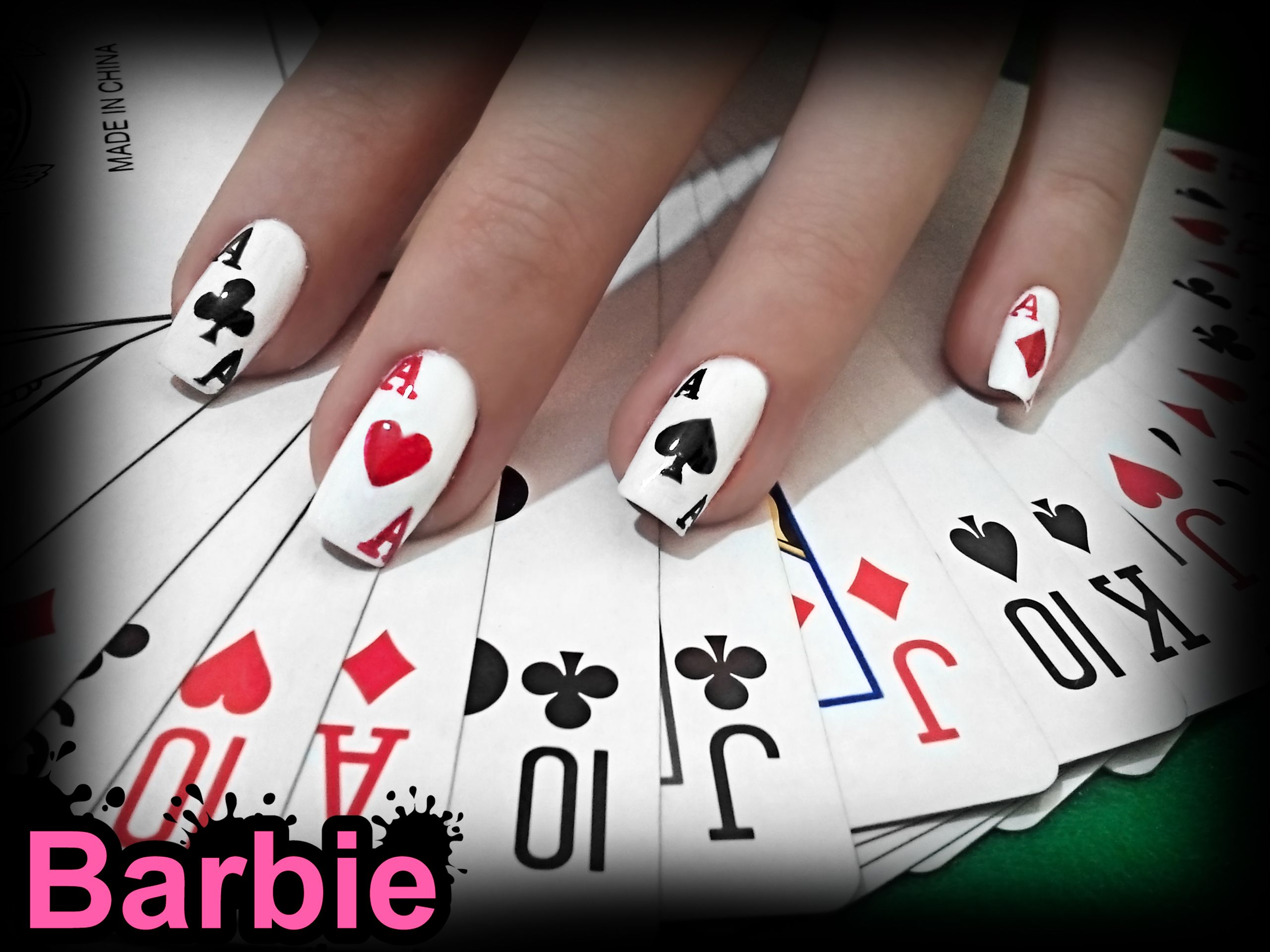 Cards Nails - Nail design in the shape of playing cards, it\'s poker ...
