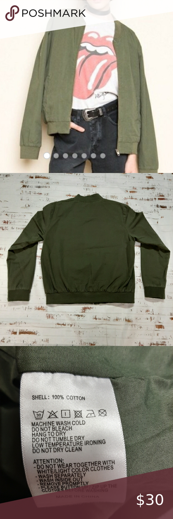 Brandy Melville Canvas Bomber Jacket Brandy Melville Canvas Bomber Jacket Olive Green One Size Excellent Used Con Bomber Jacket Clothes Design Women Shopping [ 1740 x 580 Pixel ]