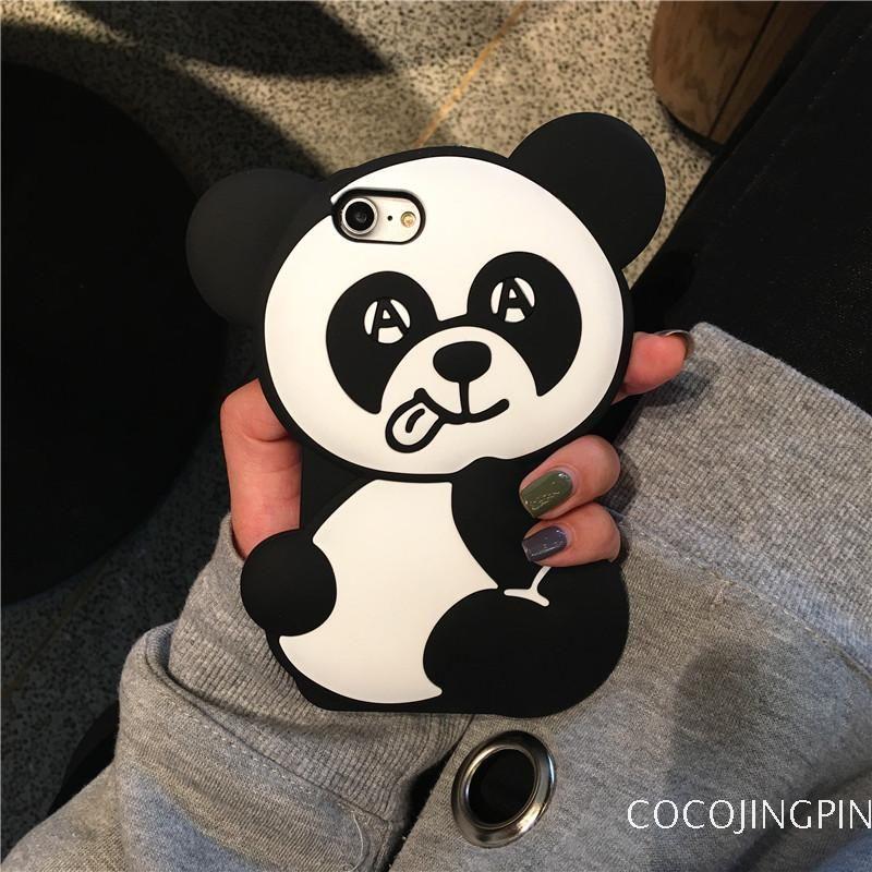 coque iphone 6 silicone 3d panda