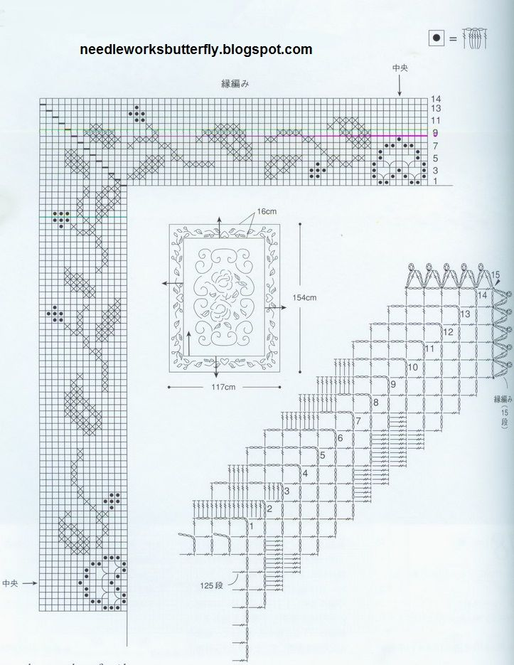 Needle-Works Butterfly: Filet Crochet Doilies With Patterns | mas ...