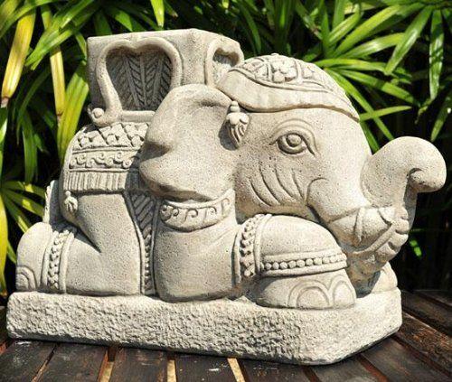 Raja Elephant Umbrella Stand, 14Hx9Wx16D, SANDSTONE GRAY Home Decorators Collection