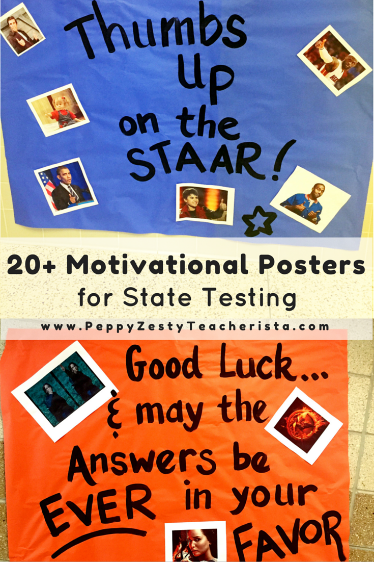 boost student moral with motivational posters for state testing